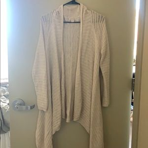 High Low off white cardigan